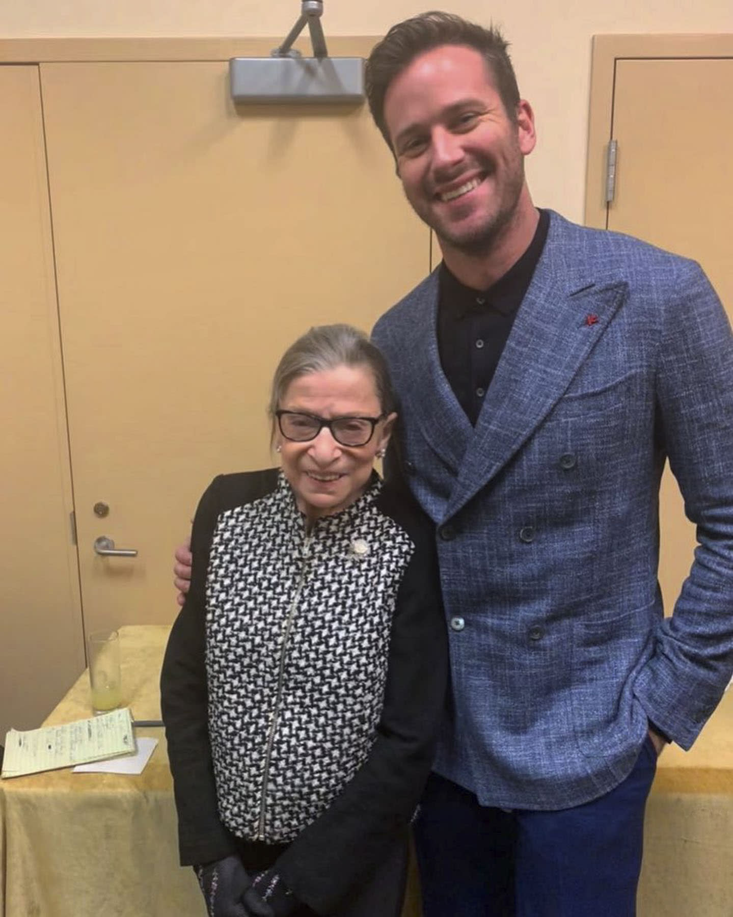 Justice Ginsburg Was Quite Taken With Armie Hammer Who Plays Her Late Husband In New Biopic