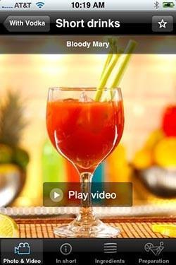 Making cocktails with video for iPhone