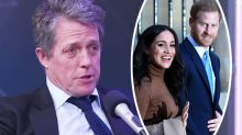 'I'm on his side': Hugh Grant defends Prince Harry and Meghan Markle