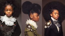 Black girls proudly rock their natural hair in Renaissance-themed photo series