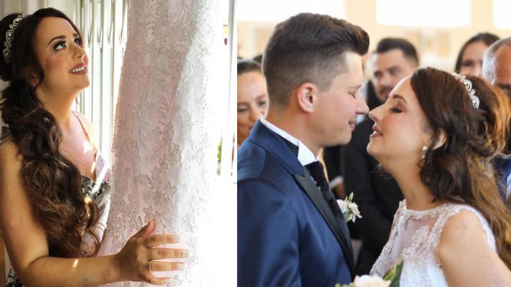 Heartbreaking wedding photos days before bride's tragic death