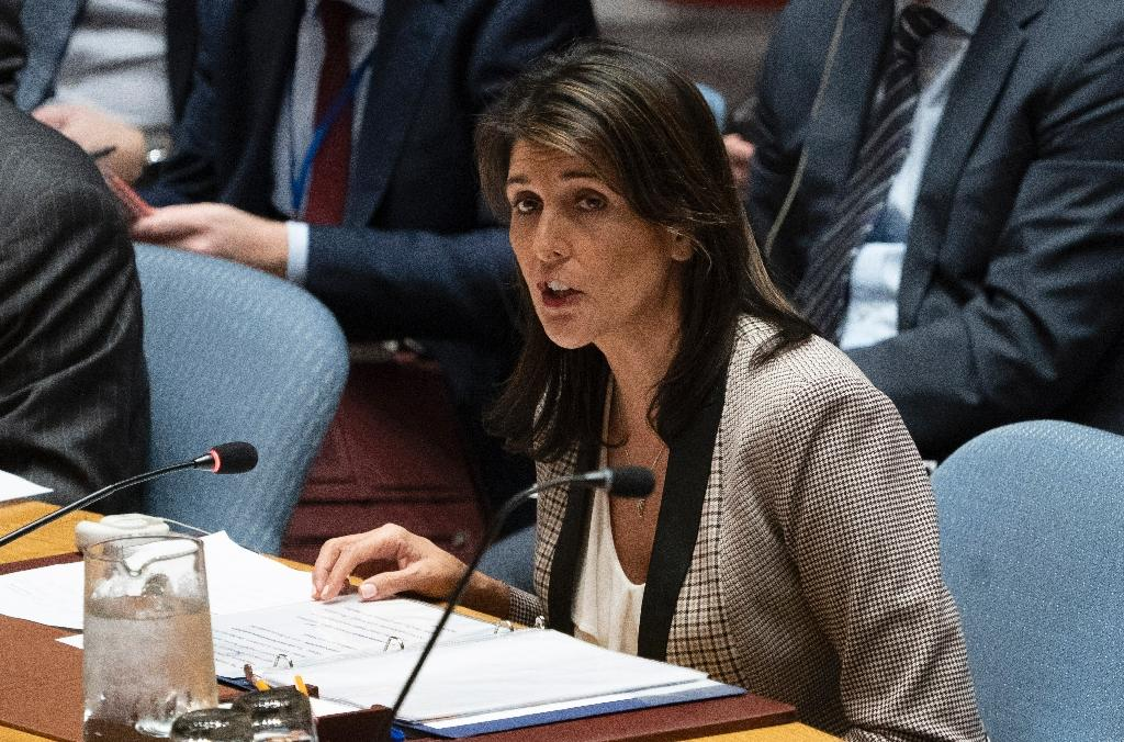 """US Ambassador Nikki Haley told the UN Security Council the long-awaited US plan for Middle East peace would contain elements that were previously deemed """"unthinkable"""""""