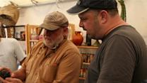 Mike and Evan at the Brimfield Antique Show