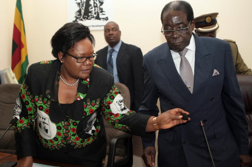 Zimbabwe's ruling party expels former vice president Mujuru