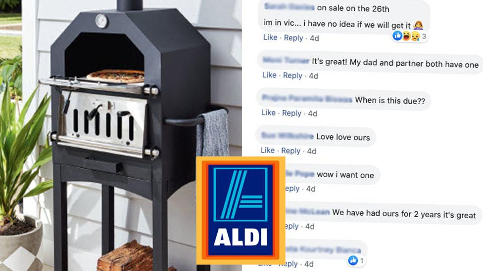 Excitement as Aldi's $179 pizza oven returns: 'I want one!'