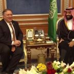Jamal Khashoggi: Pompeo all smiles in meeting with Saudi crown prince Mohammed bin Salman over journalist disappearance