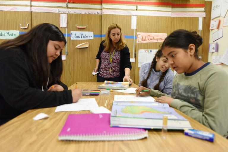 Los Angeles, the nation's second-largest school district, has yet to decide on its classroom approach during the pandemic (AFP Photo/Robyn Beck)