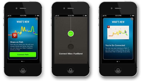 Nike+ FuelBand iOS app updated to run along your Path, sync in the background