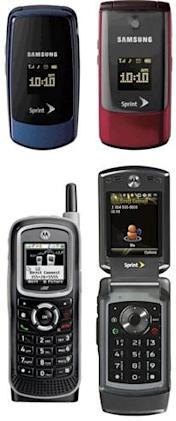 Sprint outs Motorola i365 and V950 with Samsung M220, M320 -- no Touch Diamond yet