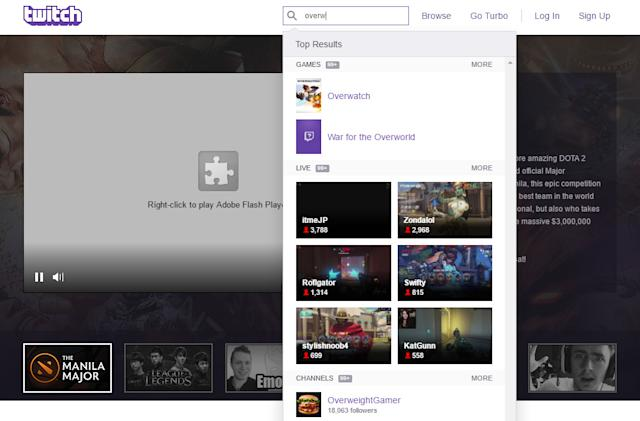 Twitch improves stream discovery with search revamp