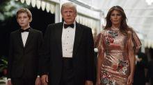 Melania Trump: Hohn und Spott im Netz für ihr Silvesterkleid