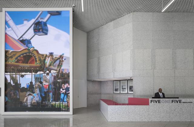 Algorithms transform Chicago scenes into trippy lobby art