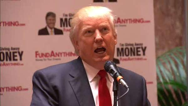 Trump sponsoring money giveaway to people in need