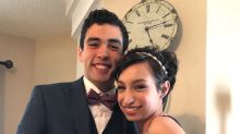 Teenage girl surprises her prom date by walking for the first time in 10 months