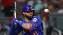 Mets' Kevin Pillar 'doing fine' after taking 94 mph fastball to the face vs. Braves
