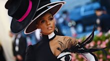Janelle Monáe embodied the Met Gala 2019 theme while still looking chic — complete with blinking eye body covering