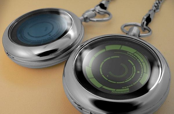 Kisai Rogue Touch Pocket Watch from Tokyoflash keeps things dapper, semi-hard to decipher (video)