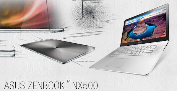 ASUS Zenbook NX500: delgado, ligero y con pantalla 4K