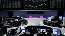 European shares hit eight-week lows as commodity weakness weighs
