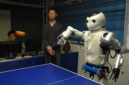 Chinese researchers create ping-pong playing robots, trash talk still needs work