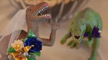 Dinosaur-obsessed woman gets the bridal shower of her dreams