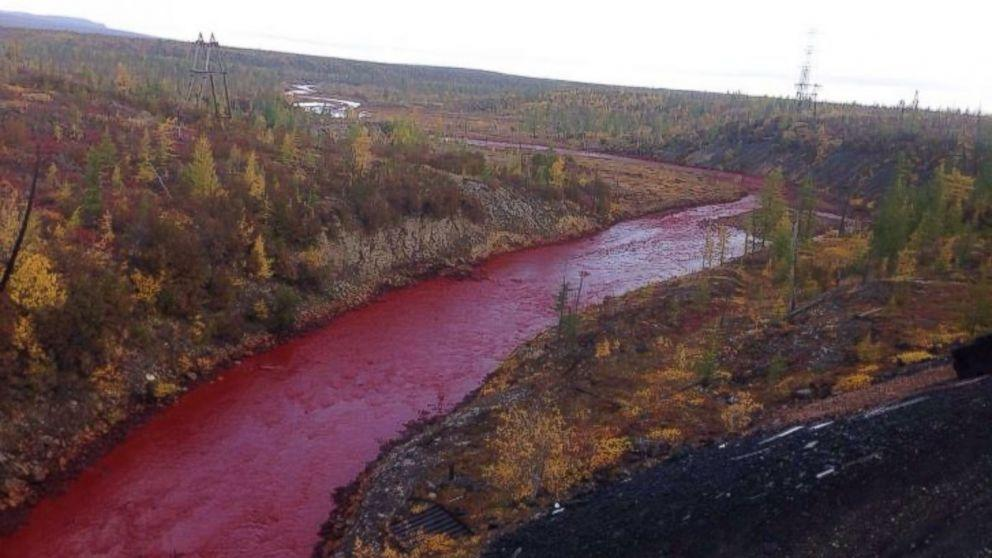 River in Russia Mysteriously Turns Blood Red