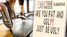 Queensland mum accuses gym of bullying 'fat and ugly' people in promo sign