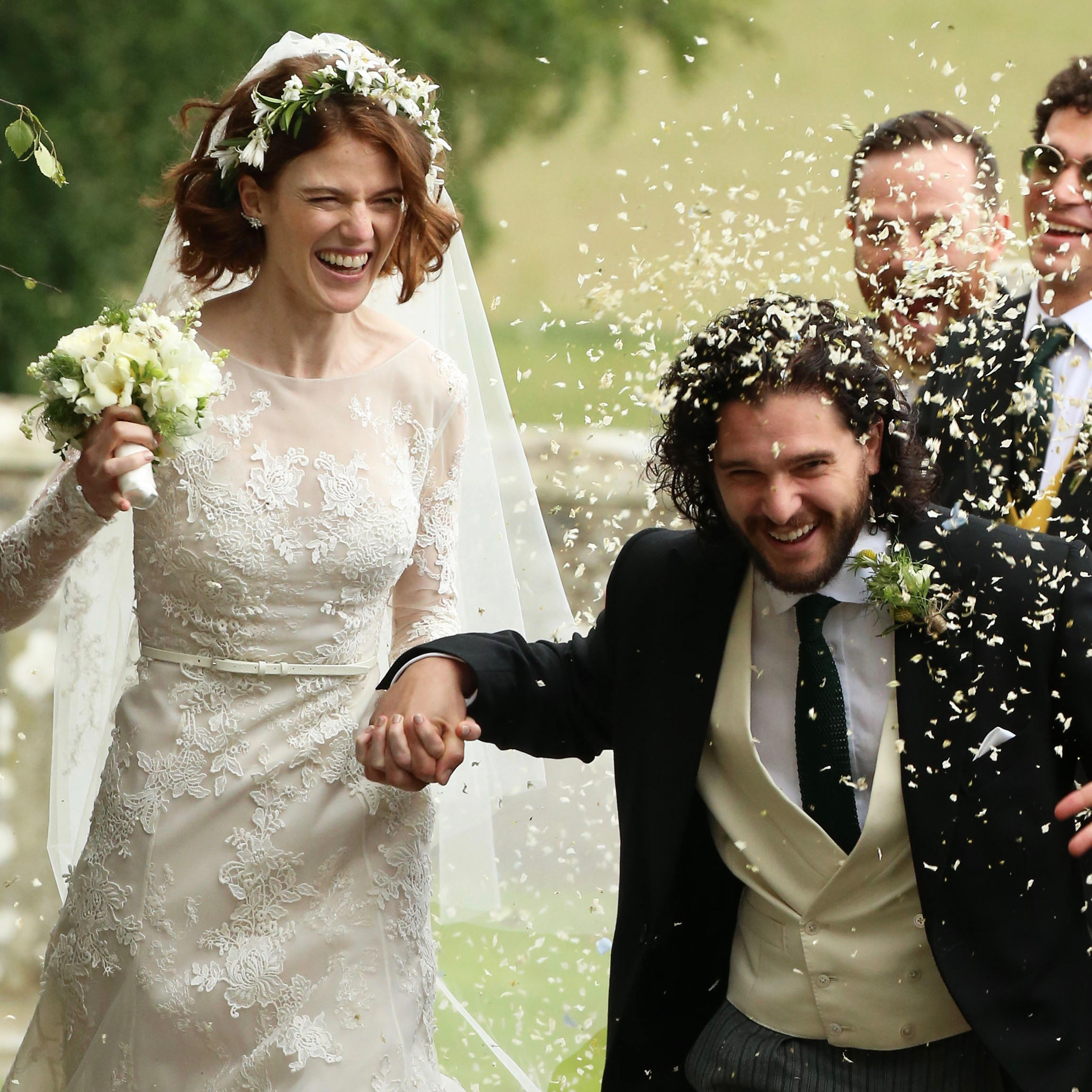 Kit Harington and Rose Leslie Got Married and, Yes, the Game of Thrones Cast Was There