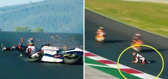'Terrifying': Moto2 rider's 'scary' escape after crash
