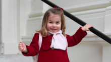 The Duchess of Cambridge takes two photographs of Princess Charlotte to mark her start at nursery