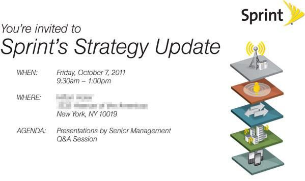 Sprint Strategy Update coming on October 7th, significant 4G plans likely to be unveiled