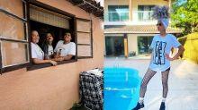 Nova casa que Babu Santana alugou no Rio tem dois andares, muro de bambu e piscina