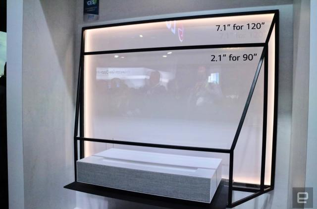 LG's Laser 4K doesn't need a lot of space for a big picture