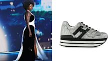 'An icon': Viola Davis wore silver platform sneakers with her Emmys gown — and Twitter is loving it
