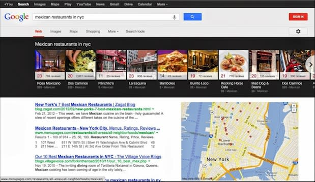 Google brings carousel layout to local search results on the desktop