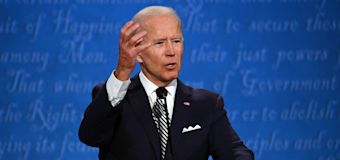 Biden drops debate clip with crying emoji over Trump
