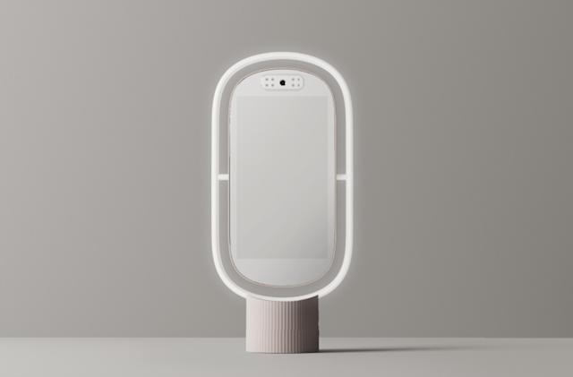 Lululab's Lumini PM is a smart mirror that offers skincare suggestions