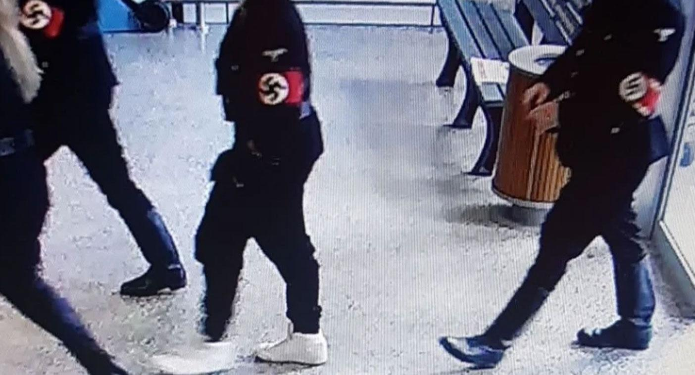 Group dressed in Nazi uniforms confront shoppers in Coles supermarket