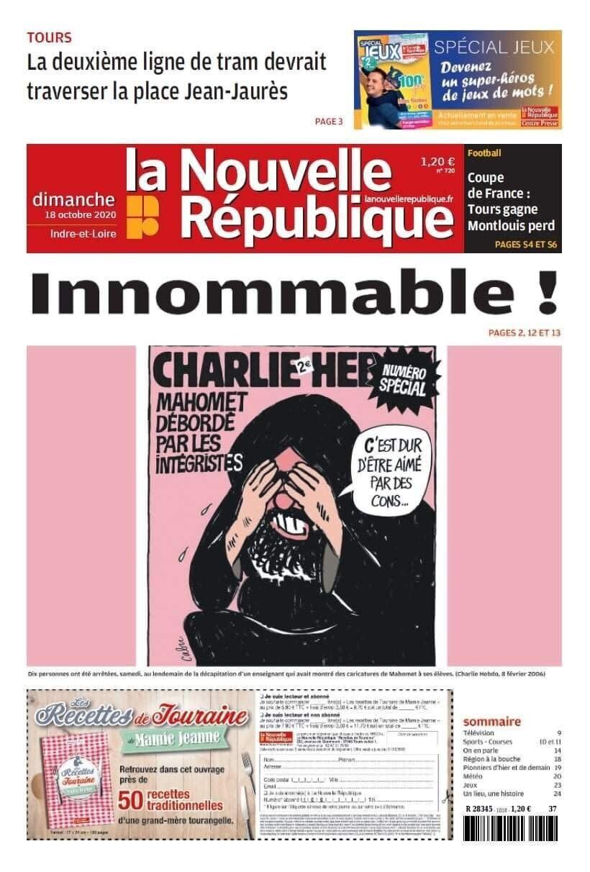La Nouvelle Republique Qui A Republie Une Caricature De Mahomet Porte Plainte Pour Menaces