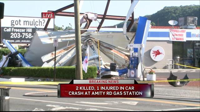 2 Dead After Car Crashes Into Gas Station