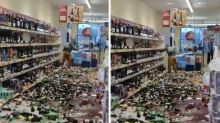 Woman smashes 'hundreds' of bottles of alcohol in supermarket