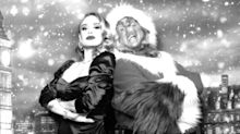 Adele Looks Super-Glam as She Poses with Santa and the Grinch in Holiday Photos