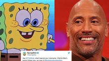 The Rock and 'SpongeBob' just had a glorious Twitter exchange