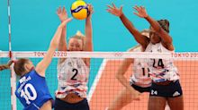 US Women's Volleyball Closes Out Pool Play vs. Italy