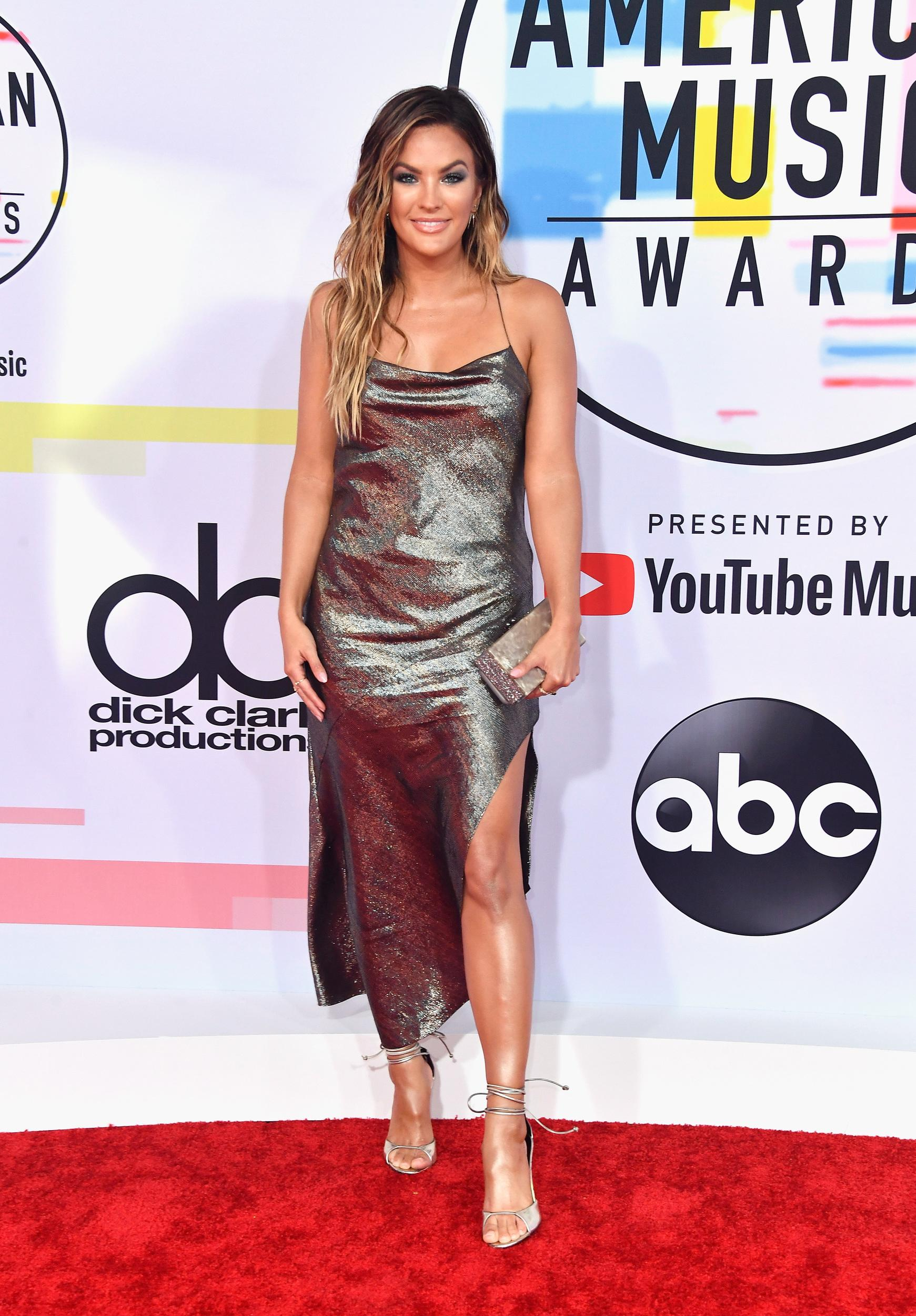 LOS ANGELES, CA - OCTOBER 09: Becca Tilley attends the 2018 American Music Awards at Microsoft Theater on October 9, 2018 in Los Angeles, California. (Photo by Frazer Harrison/Getty Images)