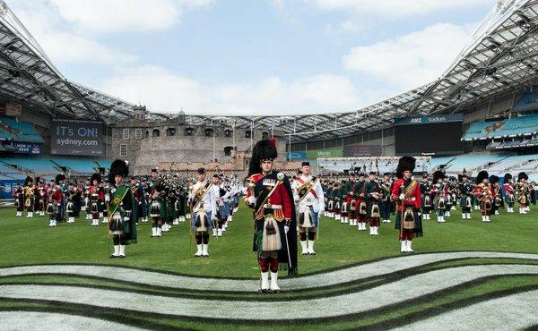 ANZ Stadium Rings with the Sound of Bagpipes & Drums as Record-breaking Production Enters Final Rehearsal
