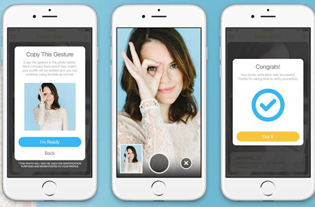 Bumble will verify profiles by asking users to take selfies