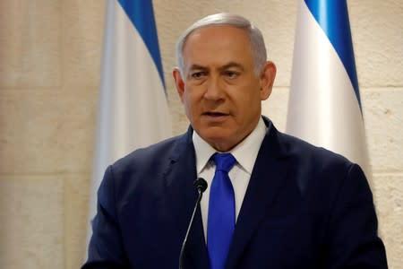 Israeli Prime Minister Benjamin Netanyahu speaks at a news conference in Jerusalem