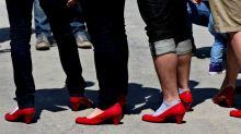 Men March in Heels to Help End Violence Against Women