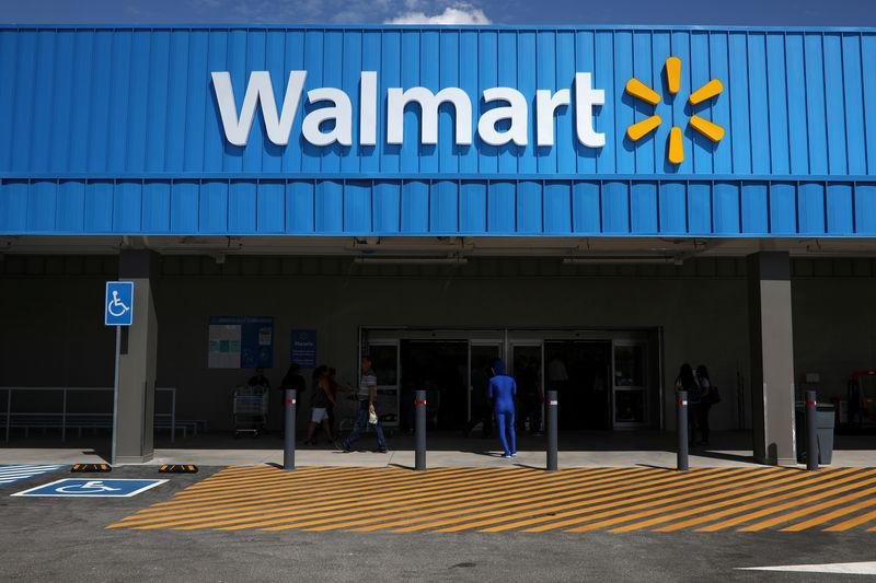 1cbb69834607 FILE PHOTO  The logo of Walmart is seen outside of a new Walmart Store in